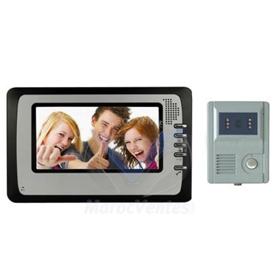 Se vd706c camera 7 color lcd video intercom 150 storage of high resol - Interphone video maroc ...