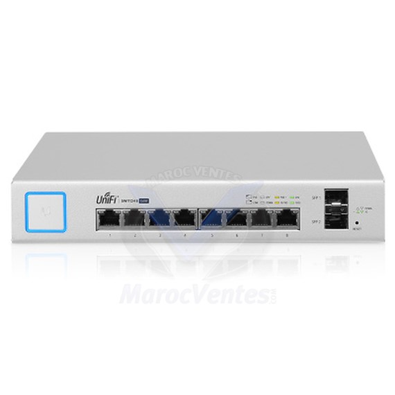 Switch Gigabit PoE + à 8 ports UniFi géré avec SFP US‑8‑150W